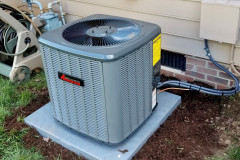 Amana-HVAC-14-seer-outdoor-unit-install-residential