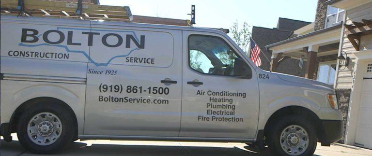 Electrician in Raleigh, Bolton Service Van