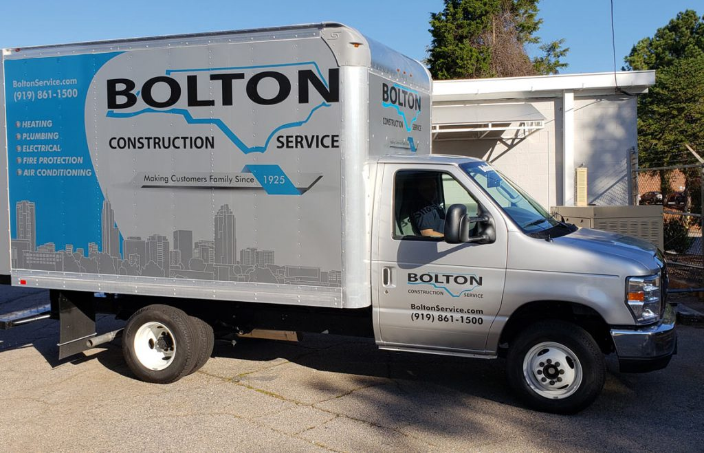 Residential air conditioning service, our van comes to your home in Raleigh or Cary, NC
