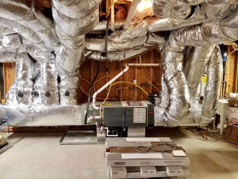 Trane air conditioner and furnace installation